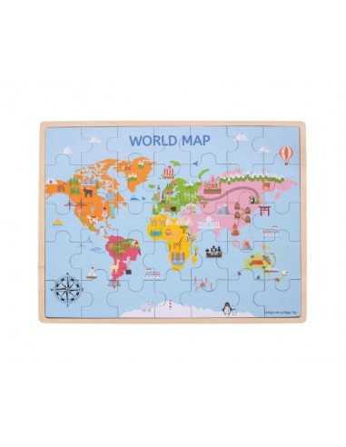 Bigjigs Toys World Map Puzzle