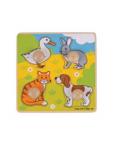 Bigjigs Toys My First Peg Puzzle-Pets