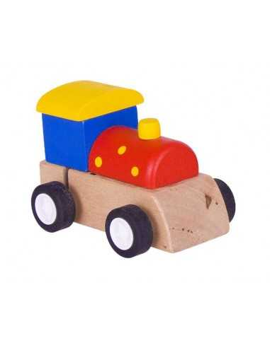 Bigjigs Toys Clockwork Train-Red with...