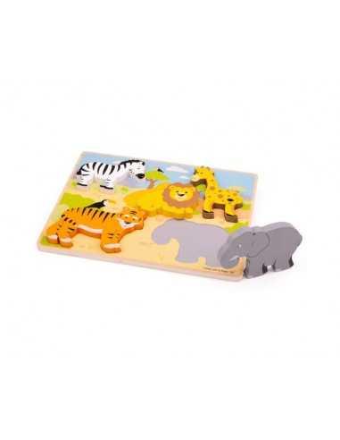 Bigjigs Toys Chunky Lift Out Safari...