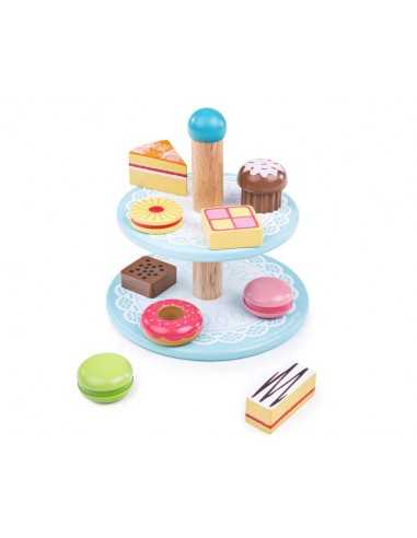 Bigjigs Toys Cake stand with 9 Cakes