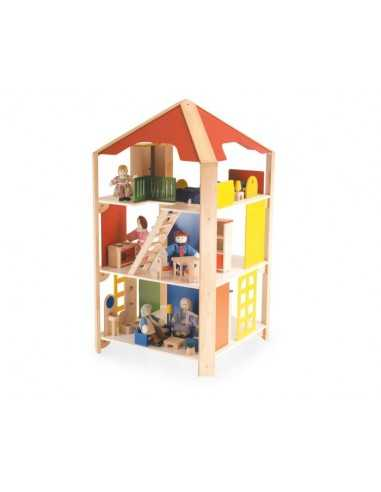 Bigjigs Toys Grand Four Way Doll's House