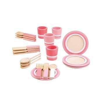 Bigjigs Toys Pink Dinner...