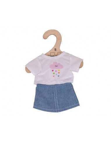 Bigjigs Toys White T-Shirt and Denim...