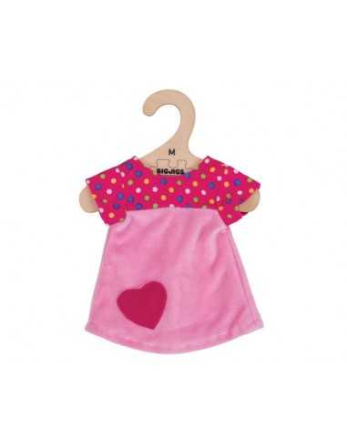 Bigjigs Toys Pink Dress with Spots...