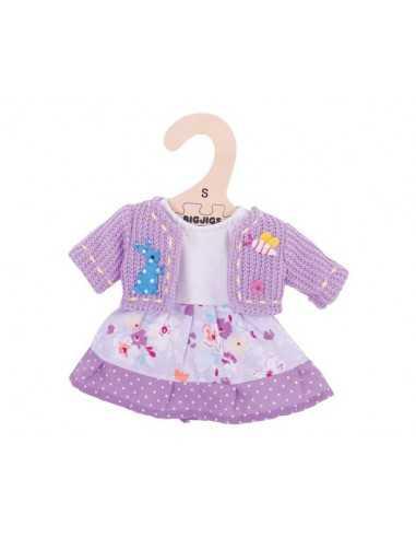 Bigjigs Toys Lilac Dress and Cardigan...