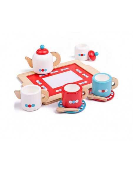 Bigjigs Toys Tea Set on a Tray Bigjigs Toys