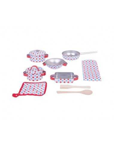 Bigjigs Toys Spotted Kitchenware Set