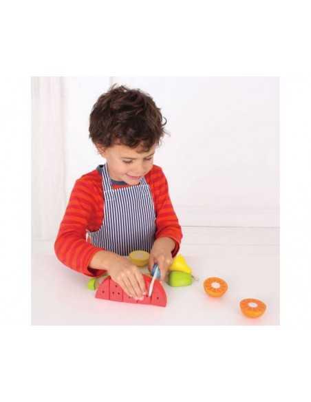 Bigjigs Toys Cutting Fruit Chef Set Bigjigs Toys