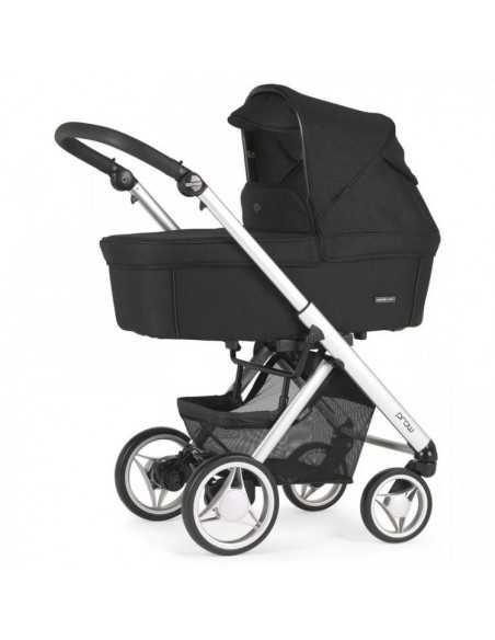 Bebecar Pack Prow Travel System + LF Car Seat + Raincover (Light C/C)-Black (101) Bebecar