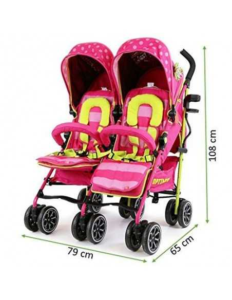 Isafe Twin Double Stroller Bundle-Mea Lux Isafe