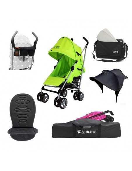 Zeta Lime Stroller + Travel Bag + Changing Bag + Console + Sunshade + Liner Zeta