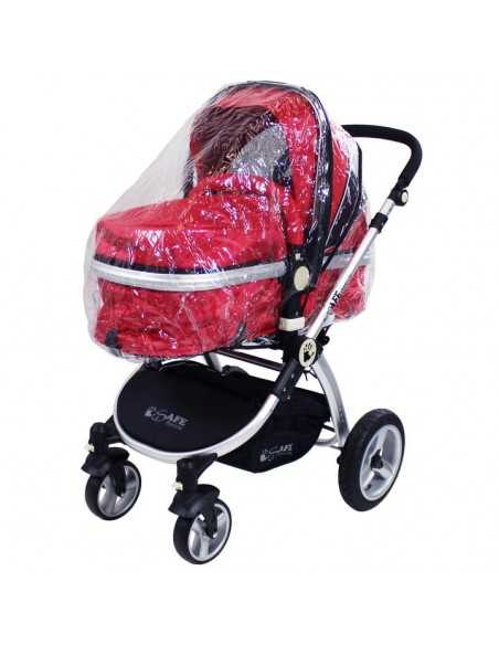 Isafe System Trio Travel System Pram & Luxury Stroller 3in1 Complete With Car Seat And Rain Covers & Footmuffs-Owl & Button Isafe