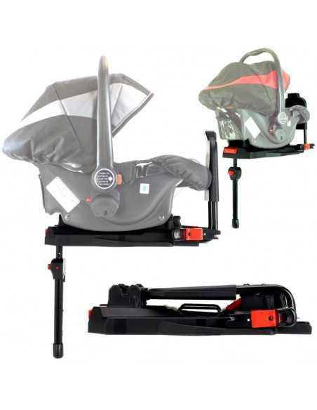 Isafe Pram Travel System Complete With Car Seat And Isofix Base-Red Isafe