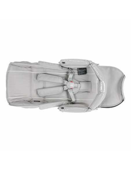 Bebecar Pack Stylo XL + Lie Flat Car Seat & LA3 Kit-Silver Grey (521) Bebecar
