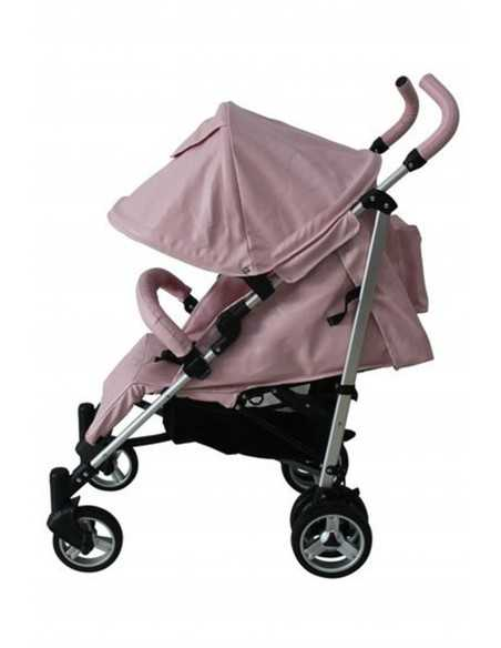 Babyco Massimo 2 Leatherette Stroller With Changing Bag & Cosy Toes-Pink Babyco