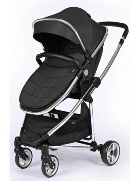 Babyco Belize Pramette With Car Seat & Accessories-Black Babyco
