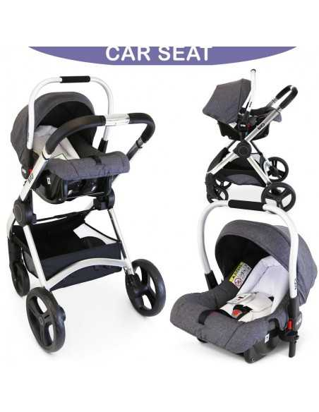 Isafe Mio All In One 3in1 Pram System-Pebble Isafe