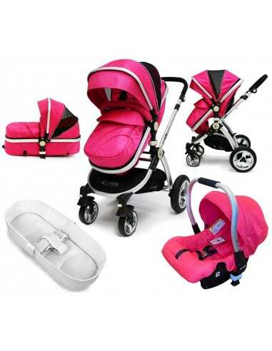 iSafe Pram Travel System-Pink With...
