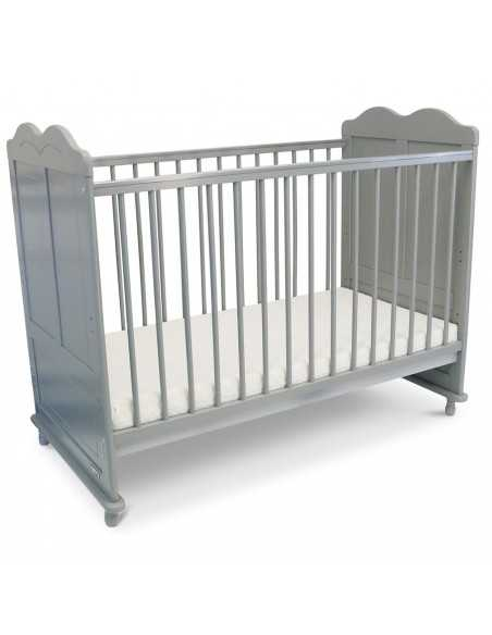 iSafe Baby Cot Bed Toddler Bed-Adam (Grey Including Mattress) Isafe