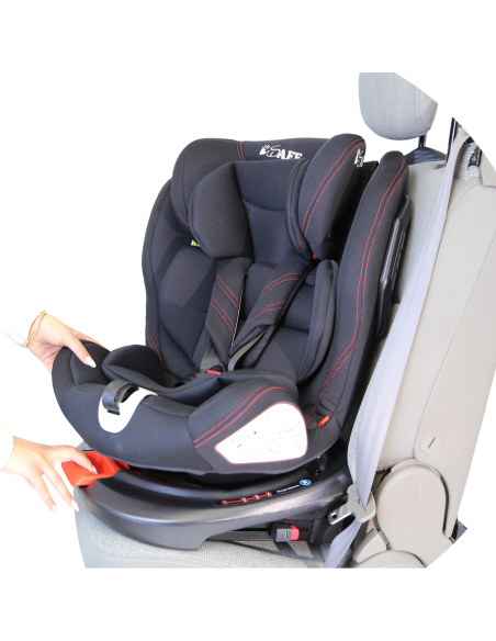 Isafe All Stages 360° Rotating Baby Car Seat Group 0+123 (CS 008)-Grey Isafe