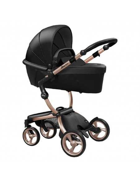 Mima Xari 3in1 Rose Gold Chassis Pushchair-Black Flair Mima