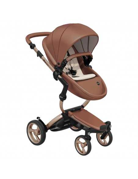 Mima Xari 3in1 Rose Gold Chassis Pushchair-Camel Flair Mima