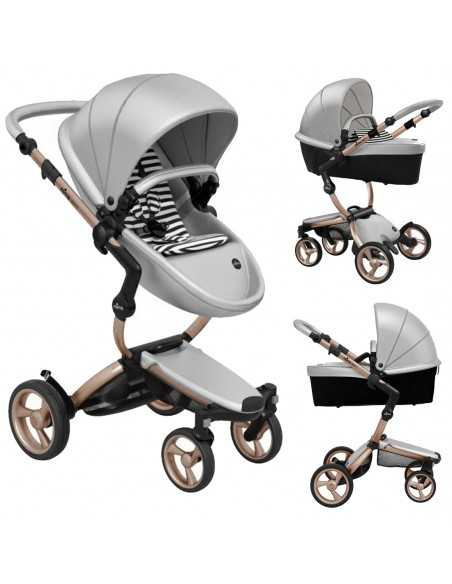 Mima Xari 3in1 Rose Gold Chassis Pushchair-Argento Mima