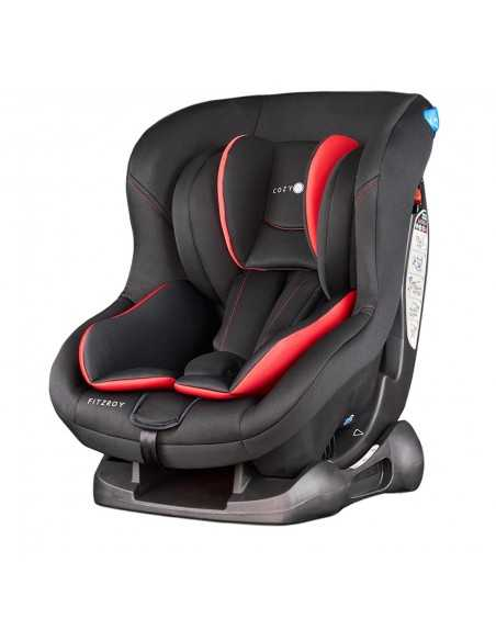 Cozy N Safe Fitzroy Group 0+/1 Car Seat-Black/Red Cozy N Safe