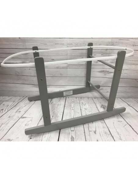 Cuddles Collection Rocking Moses Basket Stand-Grey