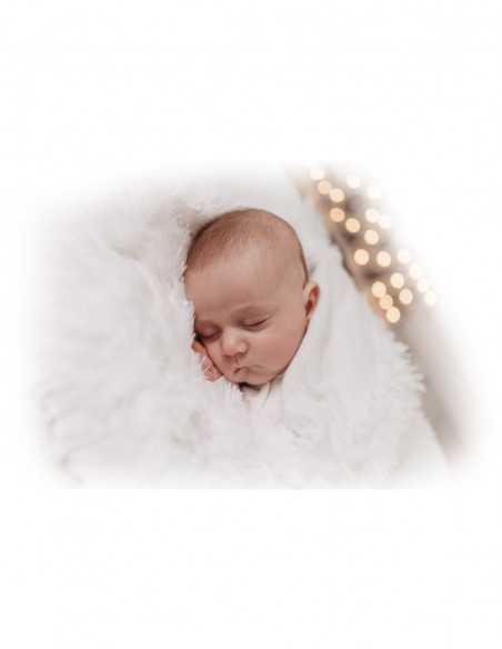 Bizzi Growin Koochicoo Blanket/Shawl-white Bizzi Growin