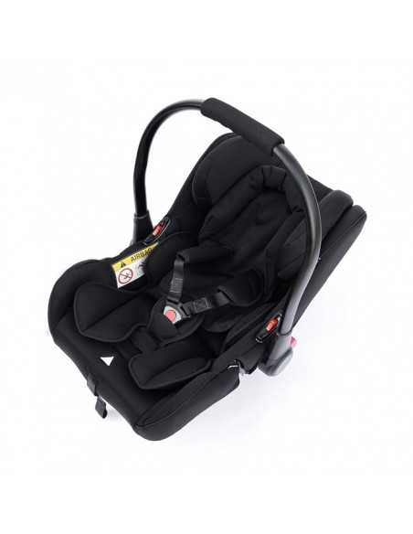 Ickle Bubba Stomp V3 All in One Travel System With Isofix Base Silver Chassis-Black Ickle Bubba
