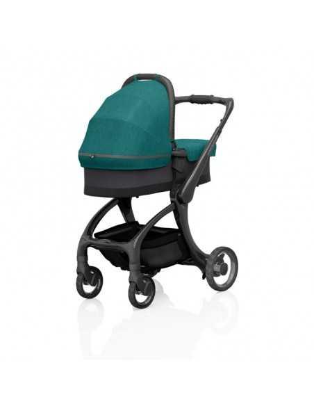 Junior Jones Luxury J-Carbon Carrycot-Caribbean Blue Junior Jones