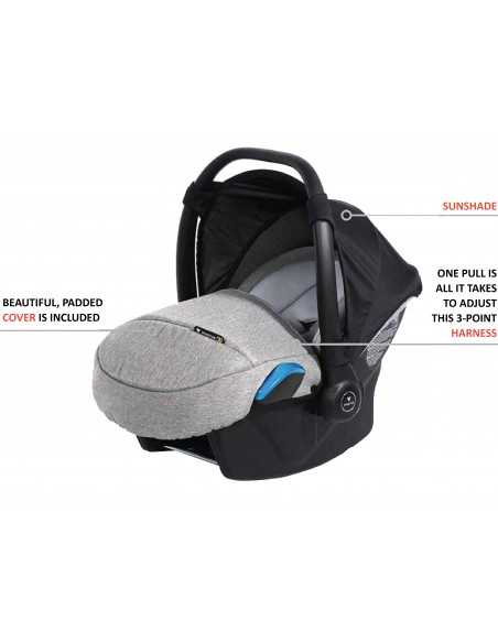 Invictus Baby Evo4 Custom 3in1 Travel System-Navy Invictus Baby
