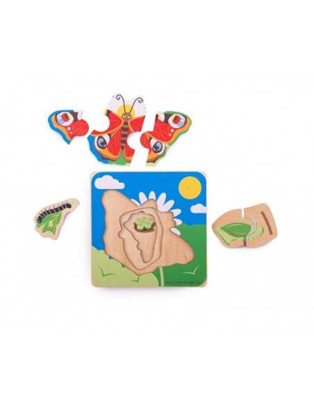 Bigjigs Toys Lifecycle Layer Puzzle-Butterfly Bigjigs Toys