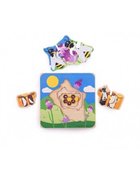 Bigjigs Toys Lifecycle Layer Puzzle-Honeybee Bigjigs Toys