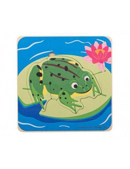 Bigjigs Toys Lifecycle Layer Puzzle-Frog Bigjigs Toys