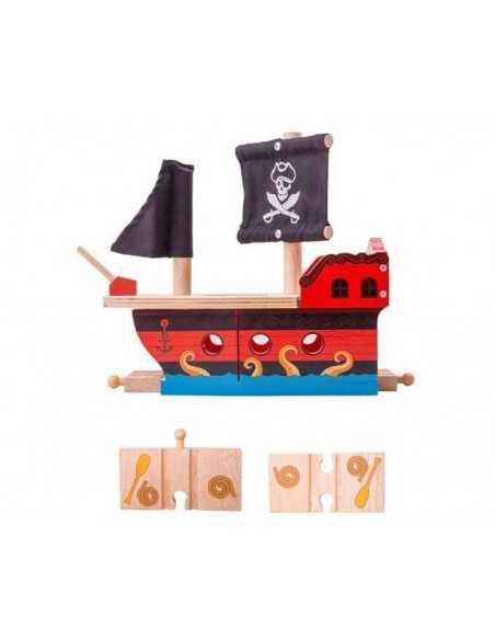Bigjigs Rail Pirate Galleon Bigjigs Toys