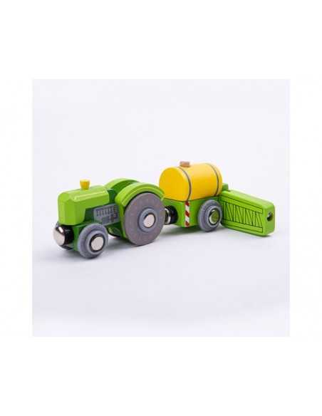 Bigjigs Rail Tractor and Crop Sprayer Bigjigs Toys