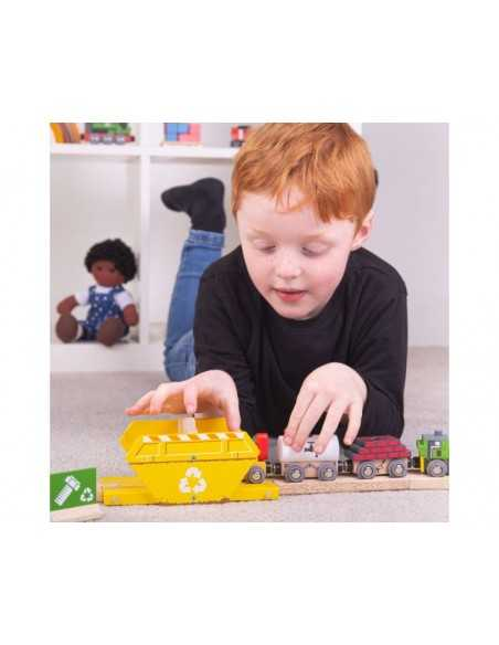 Bigjigs Rail Recycling Skip Bigjigs Toys