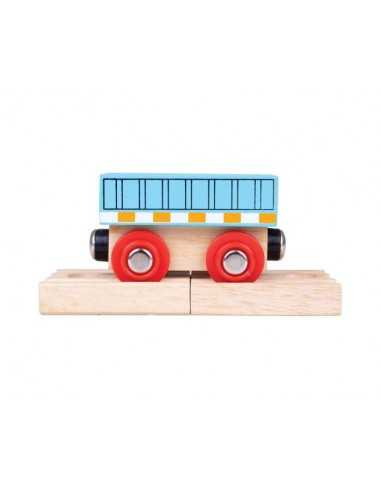 Bigjigs Rail Wagon-Blue