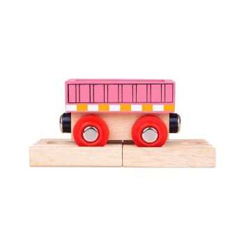 Bigjigs Rail Wagon-Pink