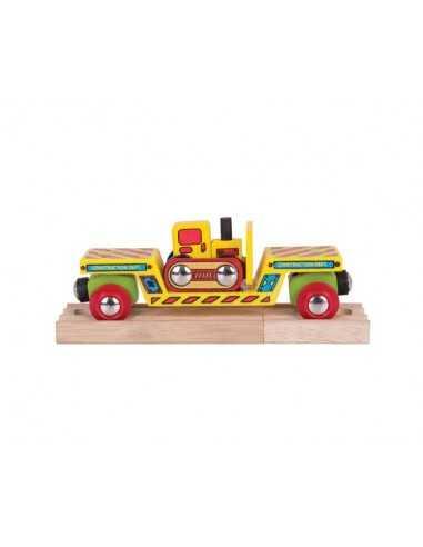 Bigjigs Rail Bulldozer Low Loader