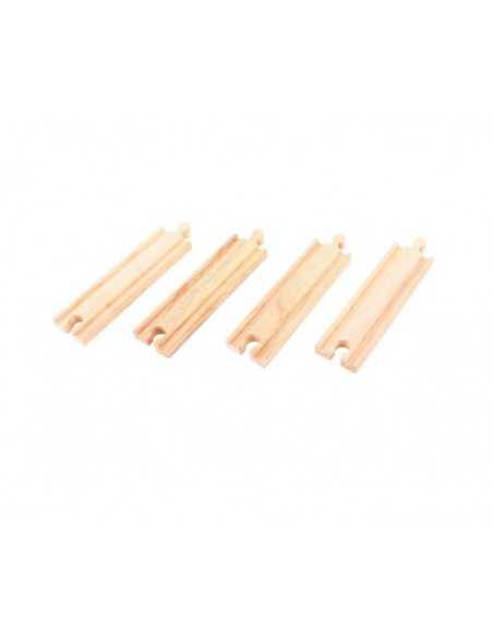 Bigjigs Rail Medium Straights (Pack of 4) Bigjigs Toys