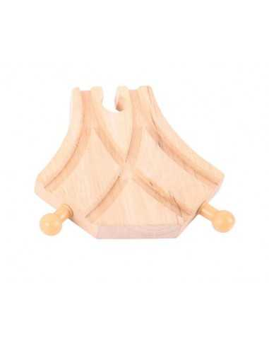 Bigjigs Rail Curved Turnouts (Pack of 4)