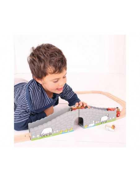 Bigjigs Rail Farm Bridge Bigjigs Toys