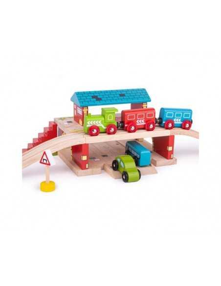 Bigjigs Rail Overground Station Bigjigs Toys