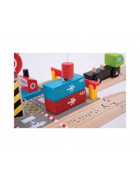 Bigjigs Rail Container Shipping Yard Bigjigs Toys