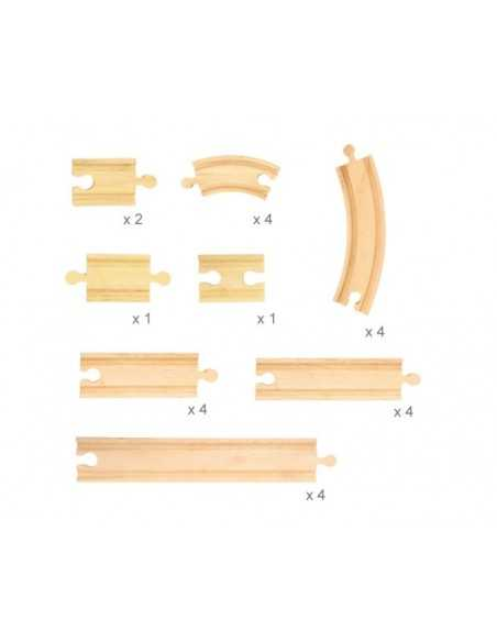 Bigjigs Rail Curves and Straights Expansion Pack Bigjigs Toys