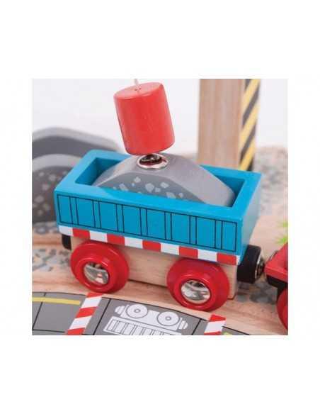 Bigjigs Rail Gravel Crane Bigjigs Toys